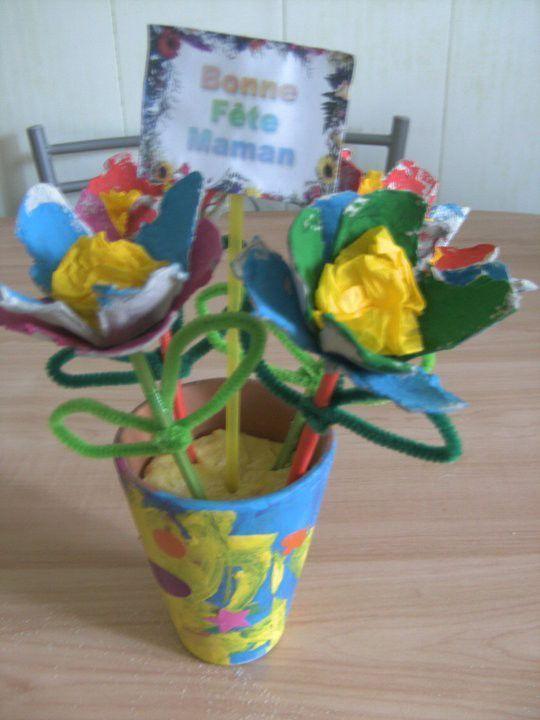 Fleur boite a oeuf - Comment faire des fleurs avec des boites a oeufs ...