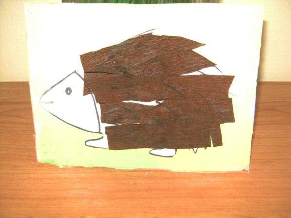 Herisson papier crepon - Herisson en papier ...